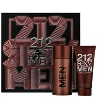 Carolina Herrera 212 Sexy Men Set mit Aftershave Balm~100ml-100ml (Herrera Aftershave Carolina 212)