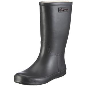 Aigle Manege 845893 Stivali da Pioggia per Bambini, Unisex, Nero, 30 EU