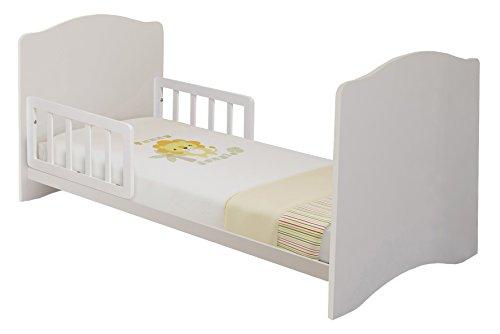 Polini Kids Babybett Kombi-Kinderbett Simple 140 x 70 cm in verschiedenen Farben (Weiß)