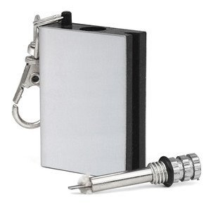 318dAGyXX3L. SS300  - Ardisle Permanent Metal Match Box Lighter Gadget Military Everlasting Keyring Novelty