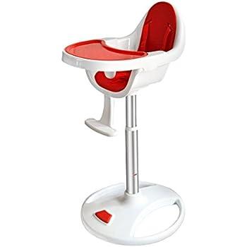 bebe style modern swivel 360 high chair red - Modern High Chair