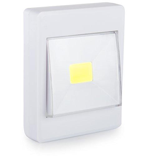 Oramics SMD LED Strahler mit Schalter, Leuchte mit Batterie zur Montage mit Magnet und Klettband...