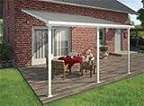 Hochwertige Aluminium Terrassenüberdachung, Terrassendach 400x425 cm (TxB) - weiß