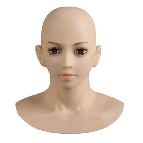 XSWE Top-Qualität Realistische Silikon-Maske Weibliche Masken Halloween Weihnachts Masken Angel Face Cosplay Transgender Shemale Crossdress