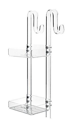 Tl.bath 1132/c/tr portaoggetti da appendere, 2 piani, 21 cm con gancio