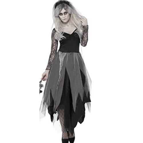 WHL.LL Frau Halloween Zombie Braut Kostüm, Erwachsene