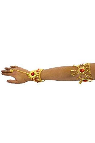 Unbekannt Aptafêtes-ac0189--Schmuckstück Arm Oriental Metall mit Steine (Orientale Danse Kostüm)
