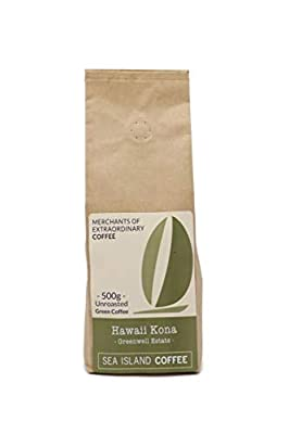 Sea Island Coffee Hawaiian Kona, Unroasted Raw Green Coffee Beans (500g Bag) from Sea Island Coffee