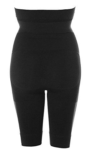 Damen Shape Wear Miederhose Taillenhose mit Bein Bambusfaser Schwarz
