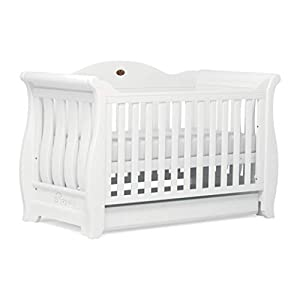 Boori Sleigh Royale Cot Bed, Barley White   8
