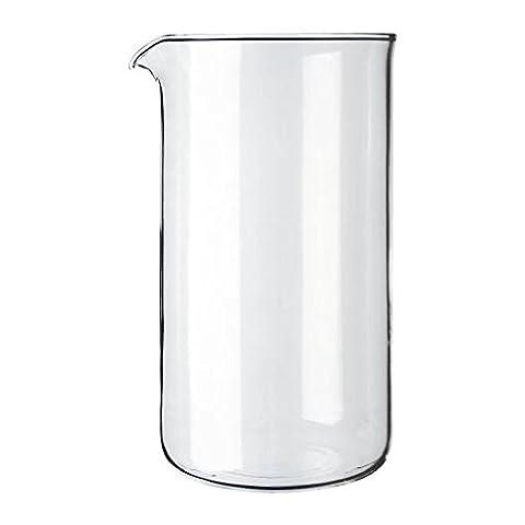 Bodum Transparent Glass Spare Coffee Maker Beaker 8 Cup 1L