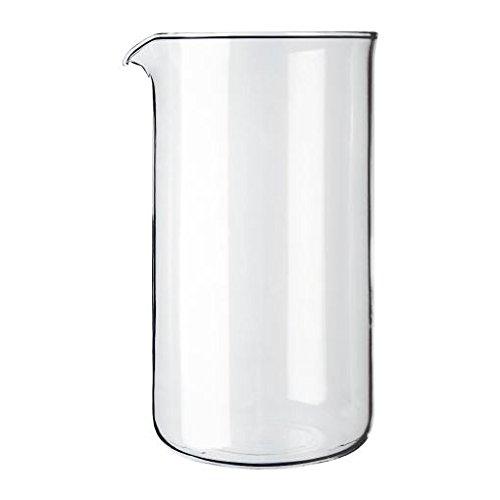 Bodum Caffè Ricambio Vetro Trasparente Produttore Bicchiere 8 Tazza 1L (34 Once) (Confezione da 2)