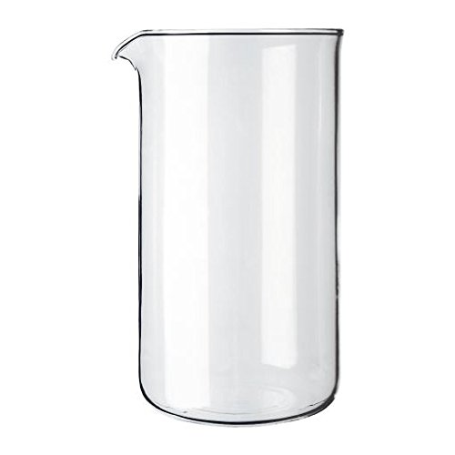 Kaffeemaschine Ersatz Becher Glas (Bodum transparent Glas Ersatz Kaffeemaschine, 8Becher 1L (34oz) (6Stück))