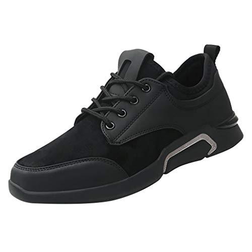Subfamily Scarpe Traspiranti Casual e Confortevoli da Uomo Style B Sneakers Stringate Tinta Unita Sneakers Traspiranti a Rete Scarpe da Ginnastica Fitness Scarpe Buco Festa del papà