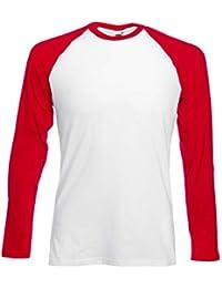 Fruit of the Loom Baseball Langarm ( Longsleeve ) T-Shirt S M L XL XXL 6fc9a590a7