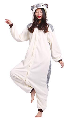 YarBar Tier Onesies Karneval Halloween Kostüm Nachtwäsche Cosplay Pyjama Erwachsene Unisex Kigurumi Jumpsuit (S (für Höhe 148-155CM), ()