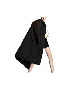 Las señoras de las mujeres abajo de la chaqueta engrosamiento outwear sobre la rodilla abrigo de algodón de estilo...