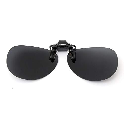 r't'r't're'we Unisex Polarisierte Sonnenbrille, zum Anklipsen, Nachtsicht, UV-400, blendfrei, zum Radfahren, Reiten, Sonnenbrillen Gr. Einheitsgröße, Grau/Schwarz