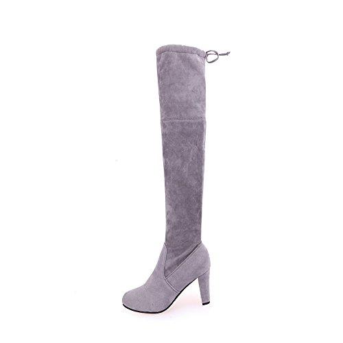 VECDY Damen Schuhe,Räumungsverkauf- Herbst Frauen Stretch Faux Slim Hohe Stiefel Overknee Stiefel High Heels Schuhe Lange Stiefel mit hohem Absatz Stiefel