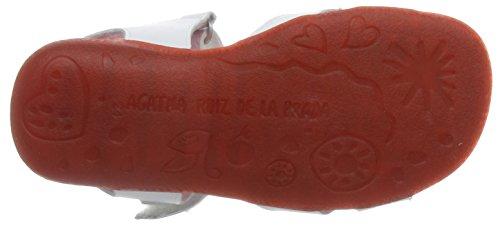 Agatha Ruiz de la Prada 162931, Sandales ouvertes fille Blanc - Weiß (BLANCO)