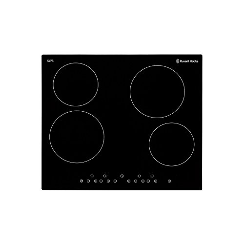 318diaBH6rL. SS500  - Russell Hobbs RH60EH402B Black Glass 59cm Wide, 4 Zone Electric Hob with Touch Control, Free 2 Year Guarantee