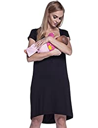 Women s Maternity Nursing Breastfeeding Nightdress Shirt Gown. 981p 1fa0593cd1d1