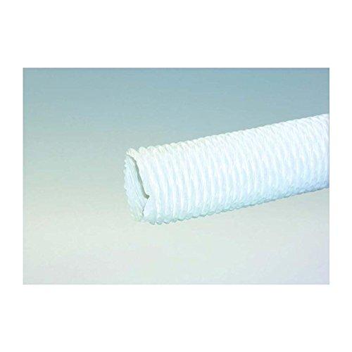 Dunstabzugsschlauch 1 m in Weiß für 150 mm Durchmesser leichte Ausführung PVC Stahldrahtspirale flexibel mit Rundanschluss Abluft Lüftungsschlauch