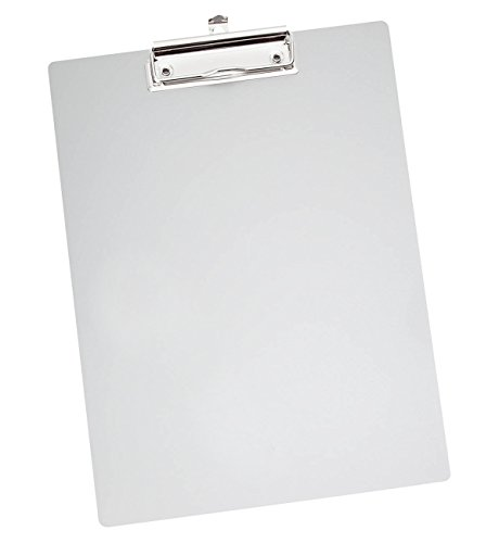 Wedo 057854 Porte-bloc en métal A4 Aluminium/Argent