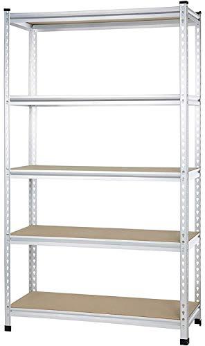 AmazonBasics - Standregal für mittelschwere Gegenstände, durchgehende Stangen, Spanplatten, 121 x 45 x 182 cm