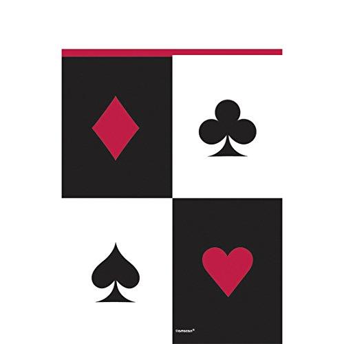 Addobbo per tavolo motivo carte da gioco Tovaglia a tema Las Vegas Tovaglia per tavolo Copritavolo serata poker festa a tema abbellimento tavola per festa Serata gioco d'azzardo drappo sintetico