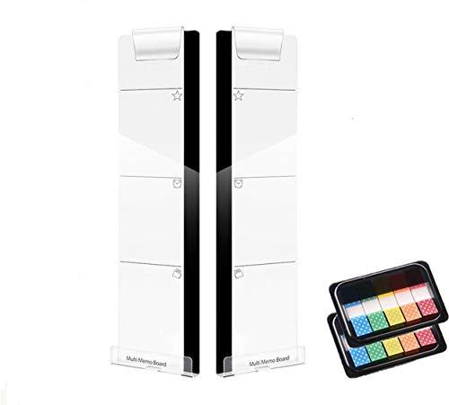 lrzcgb Acryl Transparent Sticky Reminder Memo Board Pads Verwenden Computer-Monitore Bildschirm Left & Right