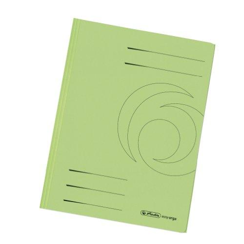 Herlitz 11076460 Einschlagmappe A4 recycling intensiv hellgrün, Manilakarton, 320 g/qm 10er Packung
