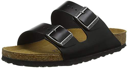 BIRKENSTOCK Damen Arizona SFB Sandalen, Schwarz Amalfi Black, 41 EU (Birkenstock-sandalen Schwarz Leder)