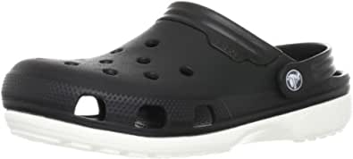 crocs Unisex's Duet Black or White Clogs-M10W12 (11001)