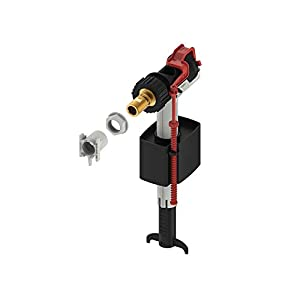 TECE 9820353 Füllventil für Spülkästen (Füllhöhe einstellbar; kompakt; geräuscharm), schwarz