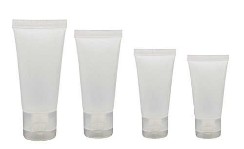 20PCS 10ml/15ml/30ml/50ml Transparent Empty Refillable Plastic Packing Sample Soft Tubes Bottle Container For Cosmetics Shampoo Cleanser Shower Gel Body Lotion (30ml)