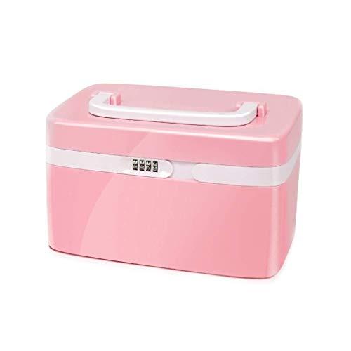 GOXJNG Medizin Box Set Tragbare Medizin-Kasten Durable Erste-Hilfe-Kit Emergency Medical Lagerbehälter Hand Carry Apotheke for Home Reise Arbeitsplatz Büro (Color : Red)