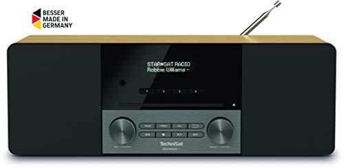 TechniSat Digitradio 3 Stereo DAB Radio - Kompaktanlage (DAB+, UKW, CD-Player, Bluetooth, USB, Kopfhöreranschluss, AUX-Eingang, Radiowecker, OLED Display, 20 Watt RMS) Eiche