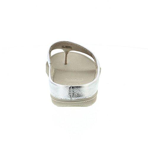 Superlight Ringer Toe Post - Silver Leather Argento