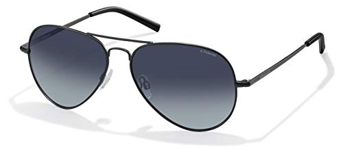 Polaroid Unisex-Erwachsene PLD 1017/S WJ 003 Sonnenbrille, Schwarz (Nero OPACO), 58 mm