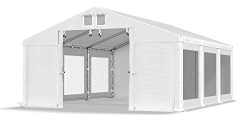 Das Company Transparente Fenster Partyzelt 4x6m wasserdicht weiß Zelt 580g/m² PVC Plane Hochwertiges Gartenzelt Summer SD