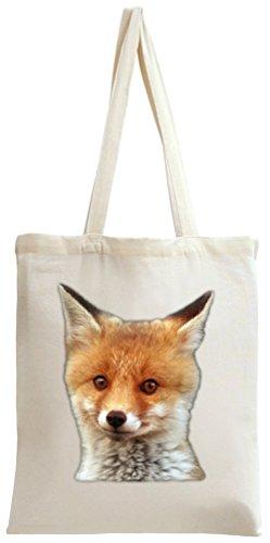 Cute Baby Fox Tote Bag