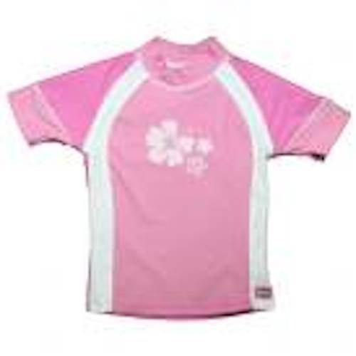 Banz Pink und Weiß UV-Kurzarm Hemd Sonnenschutz/rasher Größe Zwölf Monate
