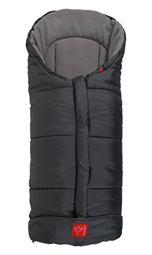 Kaiser Iglu Thermo Fleece Fußsack, anthrazit hellgrau -