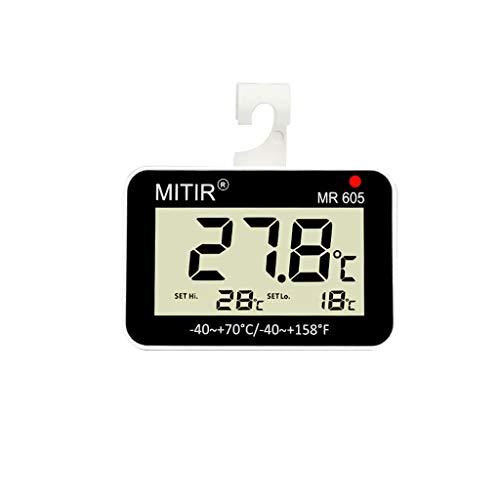 YTS Termómetro Hogar Refrigerador Precisión Cocina Supermercado Congelador Almacenamiento en frío...