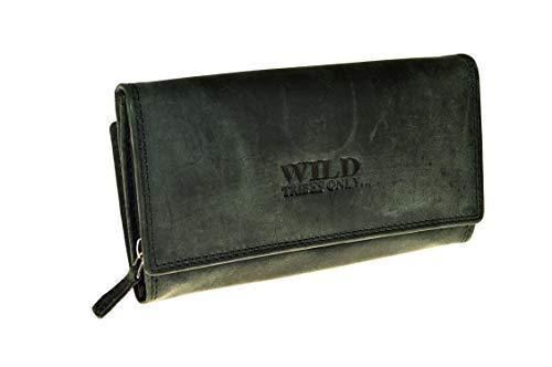 Vintage Geldbörse aus echtem naturgegerbten Leder Hand Made (schwarz)