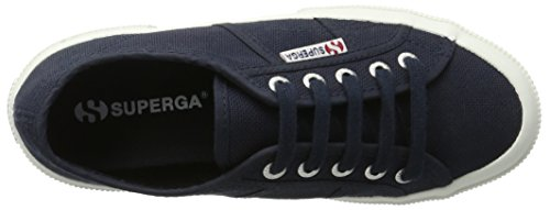 Superga 2750 Plus Cotu, Sneakers basses mixte adulte Blau (Navy-White)