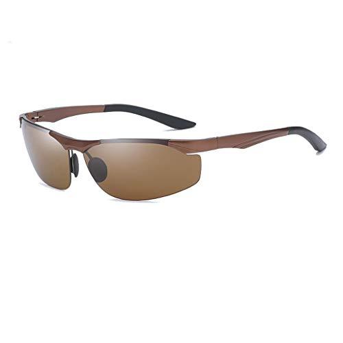 Jinxiaobei Herren Sonnenbrillen Sport polarisierte Sonnenbrille polarisierte Designer-Mode-Sport-Sonnenbrille for Baseball Radfahren Angeln Golf Superlight Frame UV400 Schutz (Color : Brown)