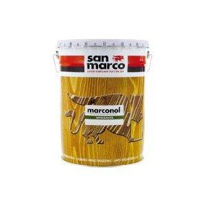 San Marco - Producto protector Marconol, barniz para madera de exterior, marrón