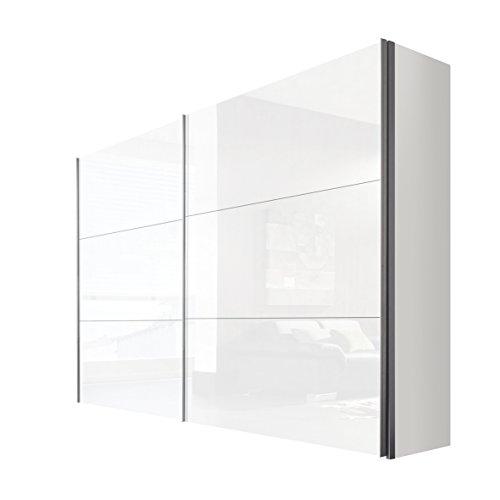 Express Möbel Schwebetürenschrank 2-türig 300 cm Weiß Lack, BxHxT 300x236x68 cm, Art Nr. 44690-203
